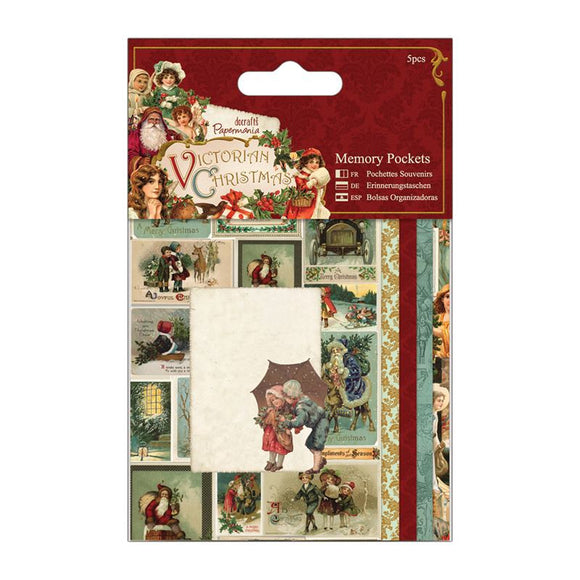 Papermania Memory Pockets (5pcs) - Victorian Christmas