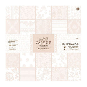 "Papermania 12 x 12"" Paper Pack (32pk) - Capsule Collection - Oyster Blush"