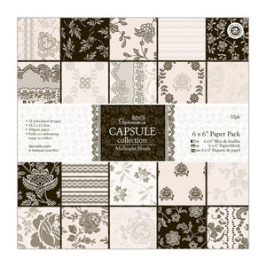 "Papermania 6 x 6"" Paper Pack (32pk) - Capsule Collection - Midnight Blush"