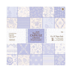 "Papermania 12 x 12"" Paper Pack (32pk) - Capsule Collection - French Lavender"