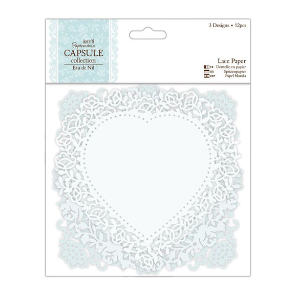Papermania Lace Paper (12pcs) - Capsule Collection - Eau De Nil
