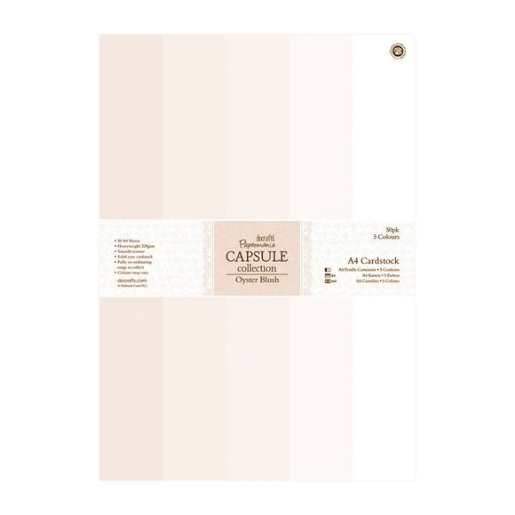 Papermania A4 Cardstock Packs (50pk) - Capsule Collection - Oyster Blush