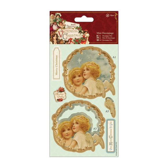 Papermania Mini Decoupage - Victorian Christmas - Angels