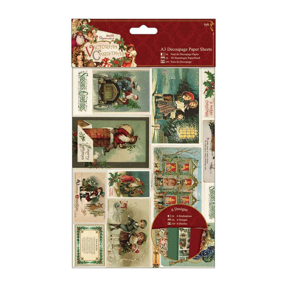 Papermania Decoupage Paper Sheets (6pcs) - Victorian Christmas