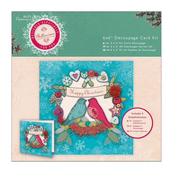 Decoupage Card Kit 6 x 6'' - Bellissima Christmas