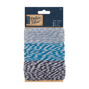 Papermania 30m Twine (3pk) - Denim Blue