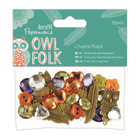 Papermania Charm Pack (32pcs) - Owl Folk