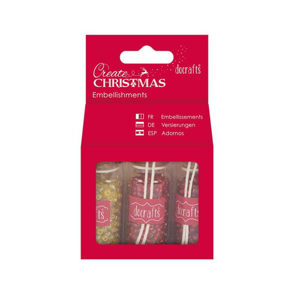 Docrafts Create Christmas Embellishments Pack - Red