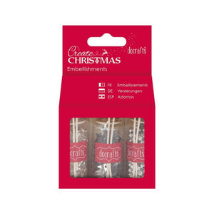 Docrafts Create Christmas Embellishments Pack - Silver