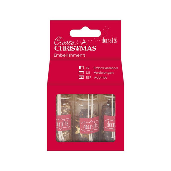 Docrafts Create Christmas Embellishments Pack - Bronze