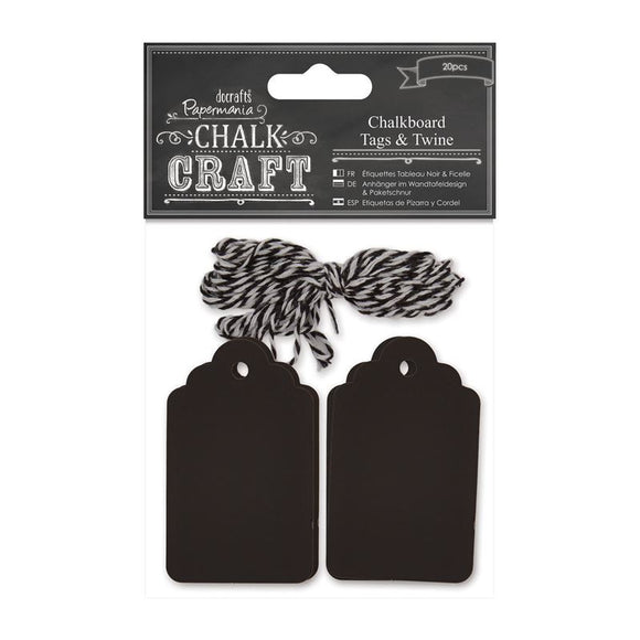 Chalkboard Tags and Twine - Papermania by DoCrafts