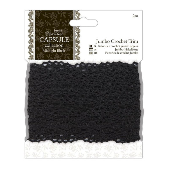 Papermania 2m Jumbo Crochet Trim - Capsule Collection - Midnight Blush