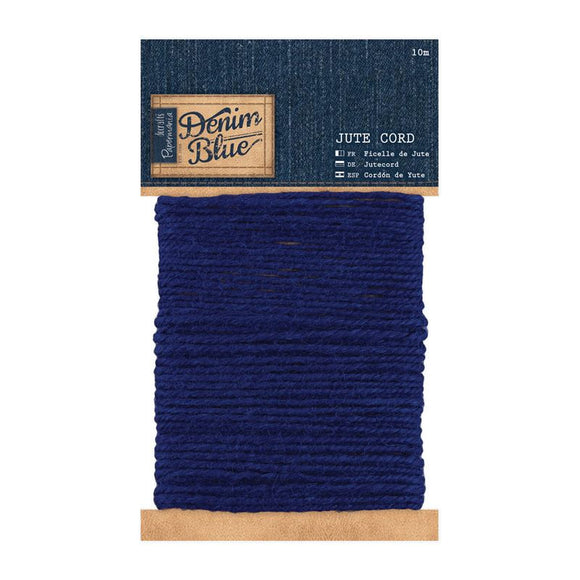 Papermania 10m Jute Cord - Denim Blue