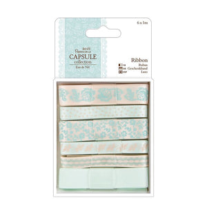 Papermania 1m Ribbon (6pcs) - Capsule Collection - Eau De Nil