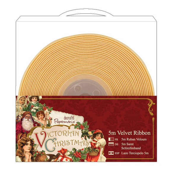 Papermania 5m Velvet Ribbon (1pcs) - Victorian Christmas