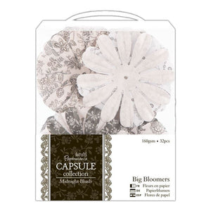 Papermania Big Bloomers (32pcs) - Capsule Collection - Midnight Blush