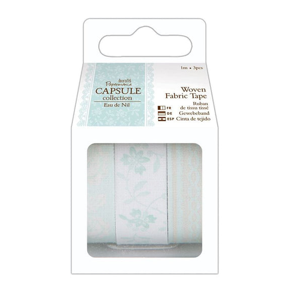 Docrafts Papermania Capsule Collection - 1m Fabric Tape (3pcs) Eau de Nil