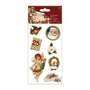 Papermania 3D Christmas Stickers (7pcs) - Victorian Christmas