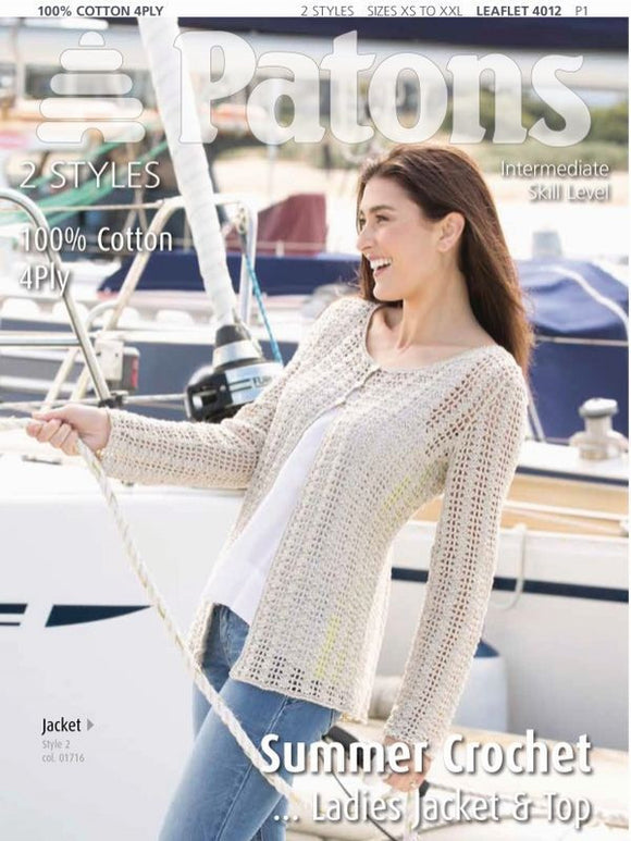 Ladies Crochet Jacket and Top - Patons 4012