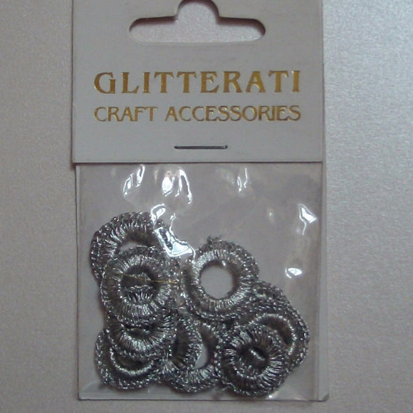 Glitterati Silver Mirror Rims - 10 pieces
