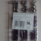 Jewellery Beads - Black and Silver