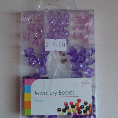 Jewellery Beads - Purple