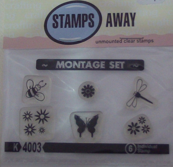 Stamps Away Unmounted Clear Stamps - Montage Set
