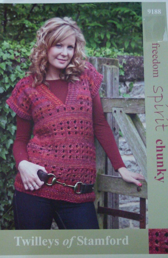 Knitted Lacy Tank Top - Twilleys of Stamford 9188