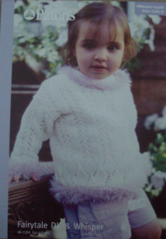 Babies and Toddlers Lacy Sweater Knitting Pattern - Patons 3308