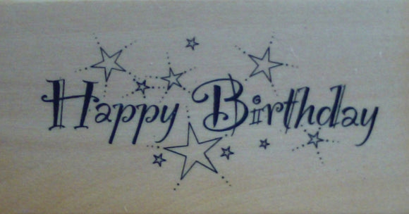 Happy Birthday Wood Mounted Rubber Stamp by Anita's