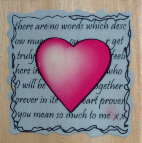 Words From the Heart Wooden Rubber Stamp