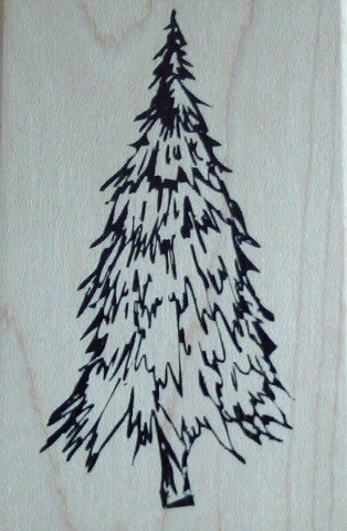 Fir Tree Wood Mounted Rubber Stamp by Arts Encaustic