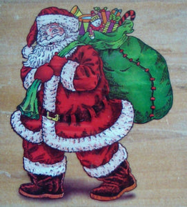 Christmas Wood Mounted Rubber Stamps