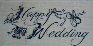 Happy Wedding Rubber Stamp by Kodomo Art and Design