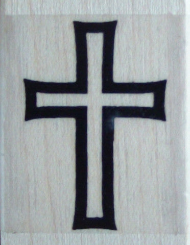 Cross Wooden Stamp - Funstamps