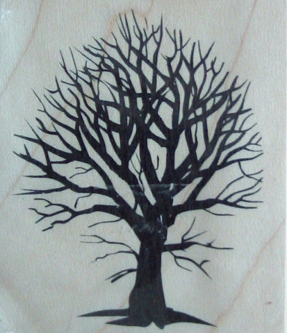 Bush Tree Wood Mounted Rubber Stamp by Arts Encaustic