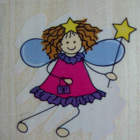 Fairy Wooden Rubber Stamp by Docrafts