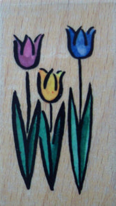 Tulips Rubber Stamp - Whispers by Docrafts