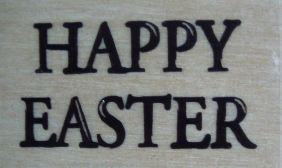 Happy Easter Wood Mounted Rubber Stamp by Docrafts