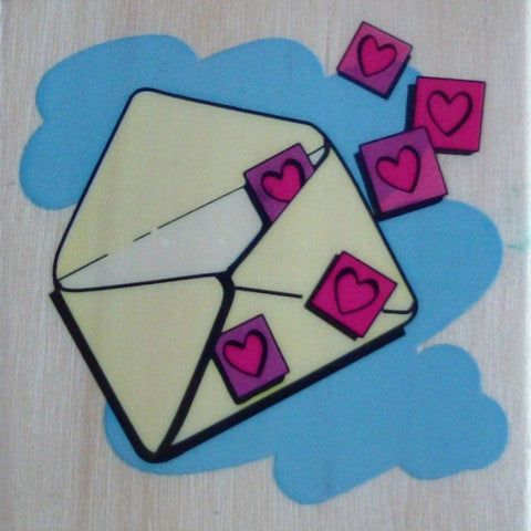 Love Letter Wooden Rubber Stamp