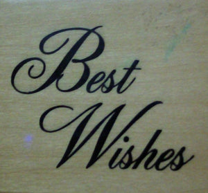 Best Wishes Wood Mounted Rubber Stamp by Anita's