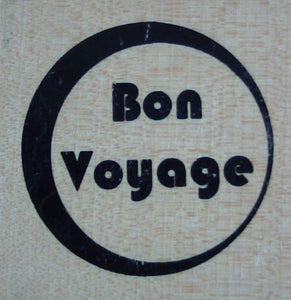 Bon Voyage Wood Mounted Rubber Stamp by Anita's