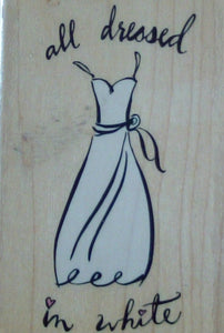 All Dressed In White Wood Mounted Rubber Stamp by Inkadinkadoo