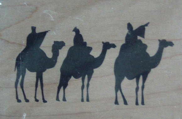 Three Wise Men Wood Mounted Rubber Stamp by Arts Encaustic