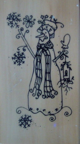 Snowman Wood Mounted Rubber Stamp by Anita's