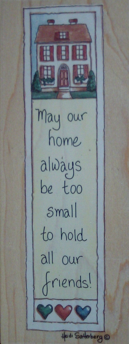 May Our Home Wood Mounted Rubber Stamp  by Heidi Satterberg for Stamps Happen