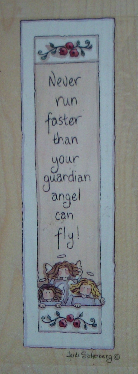 Never Run Faster Wood Mounted Rubber Stamp  by Heidi Satterberg for Stamps Happen