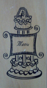 Wedding Menu Wood Mounted Rubber Stamp by Anita's