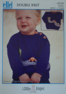 Children's 'Cars Are Fun' Sweater Knitting Pattern - Elle Q2302