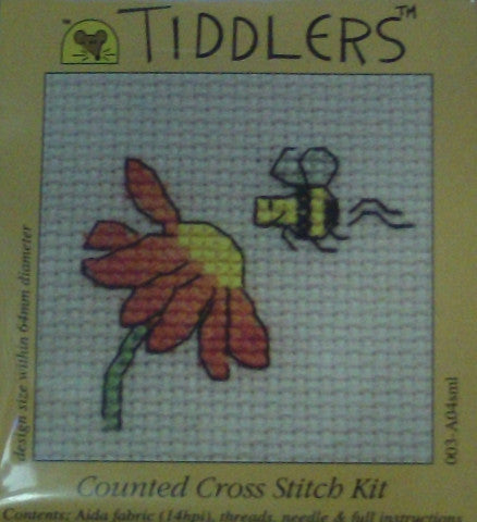 Tiddlers Mini Cross Stitch Kits By Mouseloft